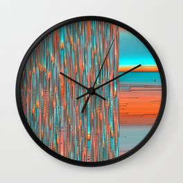 Interplay Of Warm And Cool Wall Clock
