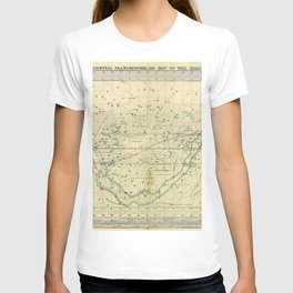 A Celestial Planisphere or Map of The Heavens T-shirt
