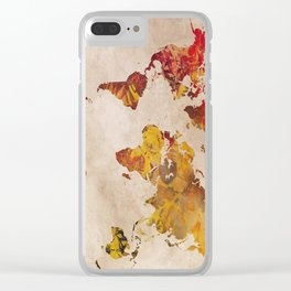 world map 24 Clear iPhone Case
