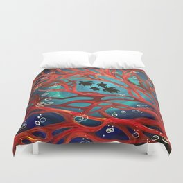 Fire Coral Duvet Cover