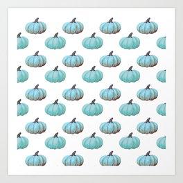 Teal pumpkins, Thanksgiving, alternative, fall Art Print