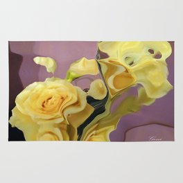 Yellow Roses Rug