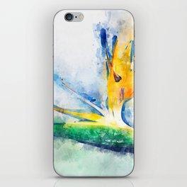 Bird Of Paradise Watercolor Art iPhone Skin