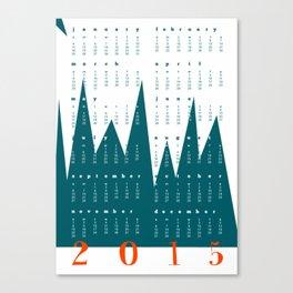 Calendar Mountain 2015 Canvas Print
