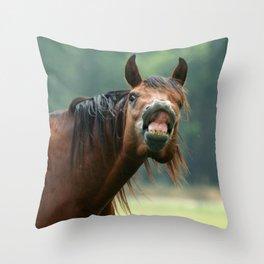 Silly face Throw Pillow