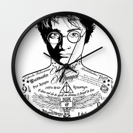 HP Mischief Managed Tat Sketch Wall Clock