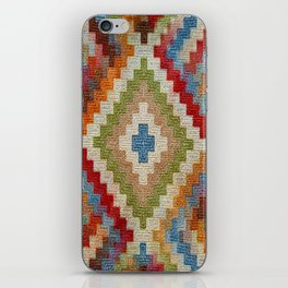 kilim rug pattern iPhone Skin