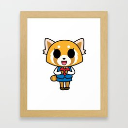 Aggretsuko Loves You! Framed Art Print