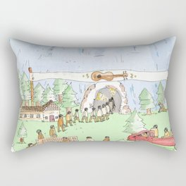 The Mountian. Rectangular Pillow