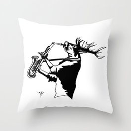 AniMusic (DEER) Throw Pillow