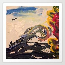 Waves of chaos Art Print