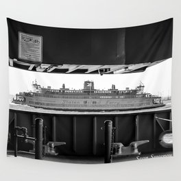 Boat through the Boat - Staten Island Ferry Wall Tapestry