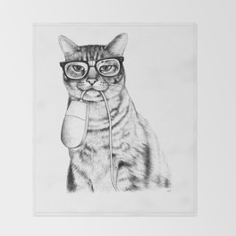 Mac Cat Throw Blanket