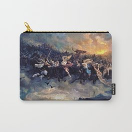 12,000pixel-500dpi - Peter Nicolai Arbo - The Wild Hunt of Odin - Digital Remastered Edition Carry-All Pouch