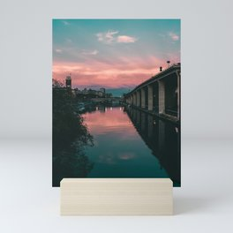 River Sunset Street Photography Mini Art Print