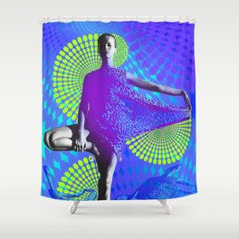 Supermodel Veruschka 2 - Supermodels of the Sixties Series Shower Curtain