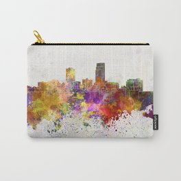 Omaha skyline in watercolor background Carry-All Pouch