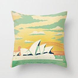 Vintage poster - Sydney Throw Pillow