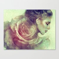 kpop Canvas Prints featuring June by Anna Dittmann