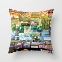 cincinnati Throw Pillows featuring Cincinnati Spectrum by Stacey Cat