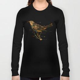 Migration - Vintage Map Wanderlust Bird Long Sleeve T-shirt