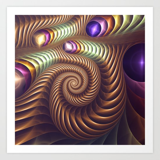 The Golden Spiral Art Print