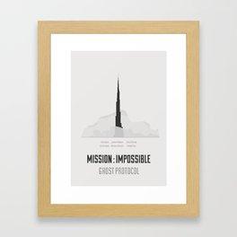 Mission : Impossible IV - minimal poster Framed Art Print
