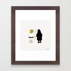 Saber Fight Framed Art Print