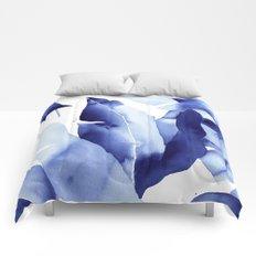 Royal Blue Palms no. 2 Comforters