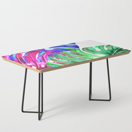 Colorful monstera illustration Coffee Table