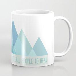Geometric Color Block Mountains (Blues) Coffee Mug