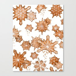 Gingerbread Cookie Blizzard Canvas Print
