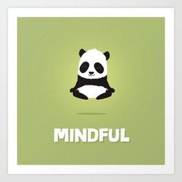 Mindful panda levitating Art Print