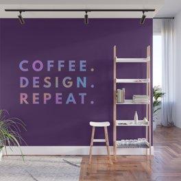 Coffee Design Repeat Wall Mural