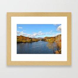 Fall on the James River Framed Art Print