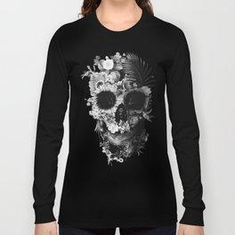 Garden Skull Dark B&W Long Sleeve T-shirt