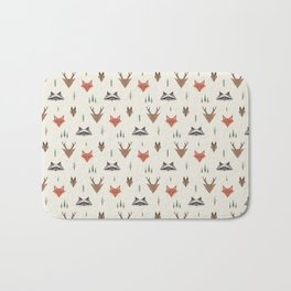 Minimalist Forest Animals Bath Mat