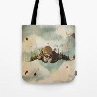 plane Tote Bags featuring -Plane  crasH- by antoniopiedade