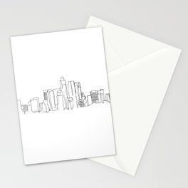 Los Angeles Skyline Drawing Stationery Cards