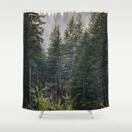 Forest Fog VII - 93/365 Nature Photography Shower Curtain