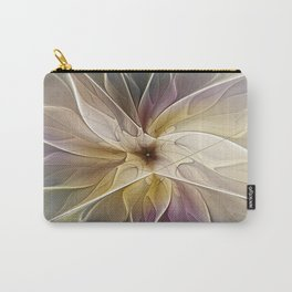 Floral Fantasy, Abstract Fractal Art Carry-All Pouch