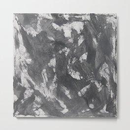 White Chalk and Black Ink Metal Print