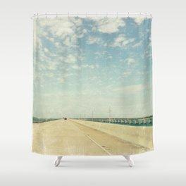 Vintage Style Photo Seven Mile Bridge Shower Curtain
