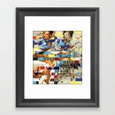 Glitch Pin-Up Redux: Yasmin & Yardley Framed Art Print