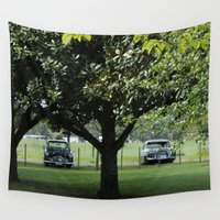 cars Wall Tapestries featuring Vintage Cars by JJ's Photography
