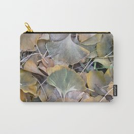 Fall Ginko Leaves Carry-All Pouch
