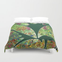 Green Garden Moose Duvet Cover
