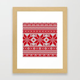 Winter knitted pattern 6 Framed Art Print