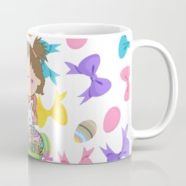 Easter Eggs Girl Coffee Mug