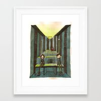 cinema Framed Art Prints featuring cinema by meme